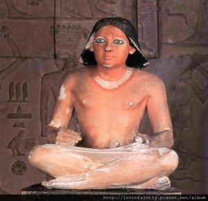 the satue of the egyptian scribe