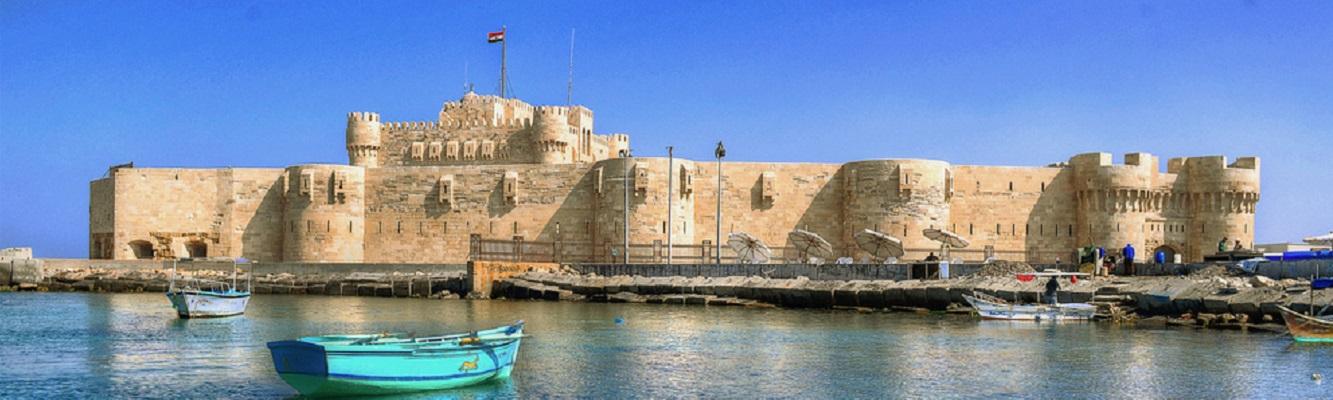 trip to Alexandria library, Roman theater , Qaitbay castle,El Nabi Daniel & Abbo Elabbas Mosque from cairo